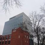 konstrukcje stalowe na budowie Comarch w Łodzi